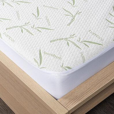 4home Bamboo Chránič matraca s lemom, 140 x 200 cm + 30 cm