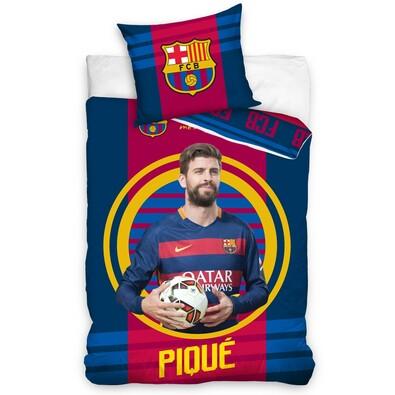 FC Barcelona Pique 2016 pamut ágyneműhuzat, 140 x 200 cm, 70 x 90 cm