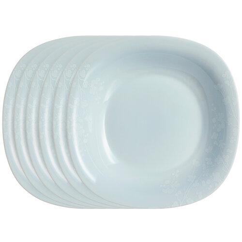 Luminarc Komplet talerzy głębokich Ombrelle 21 cm, 6 szt., szary