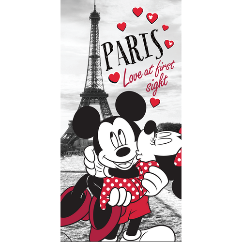 Jerry Fabrics Osuška Mickey & Minnie Love Paris, 70 x 140 cm