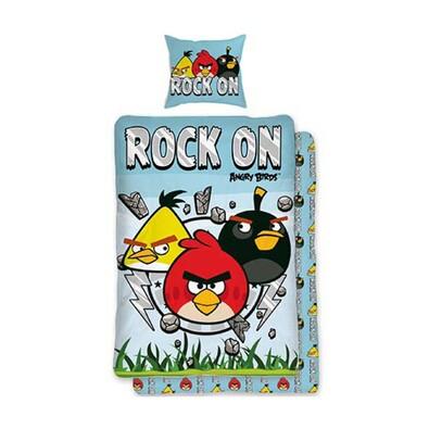 Dětské bavlněné povlečení Angry Birds Rock On, 140 x 200 cm, 70 x 90 cm