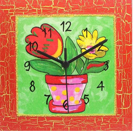 Nástenné hodiny Veselý kvetináč