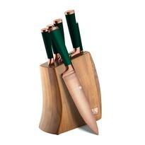 Berlinger Haus 7-częściowy komplet noży w drewnianym bloku Emerald Collection