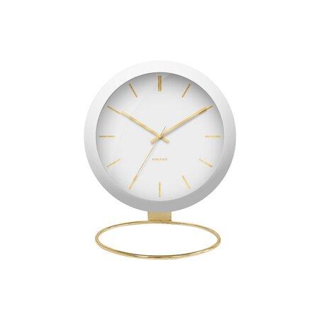 Karlsson KA5832WH Dizajnové stolné hodiny, 25 cm