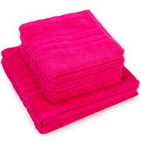 Set de prosoape Classic roz, 4 buc. 50 x 100 cm, 2 buc. 70 x 140 cm