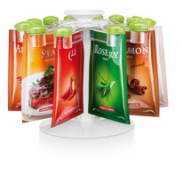 Tescoma Season cleme cu orificii pentru plicuri  de condimente 12 buc, cu suport rotativ