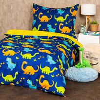 Lenjerie de pat copii, din bumbac, 4Home Dino,