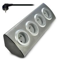 Solight Predlžovací prívod rohový, šedá