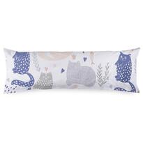4Home Poszewka na poduszkę Mąż zastępczy Nordic Cats, 55 x 180 cm