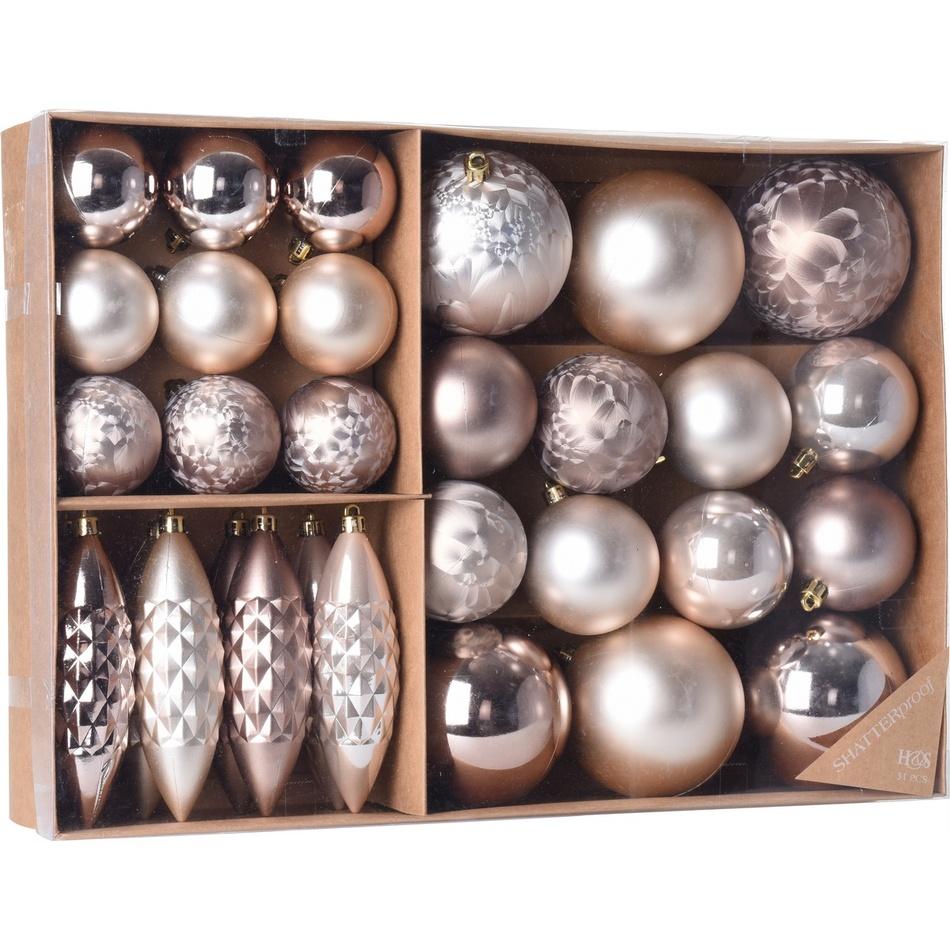 Sada vánočních ozdob Terme měděná, 31 ks