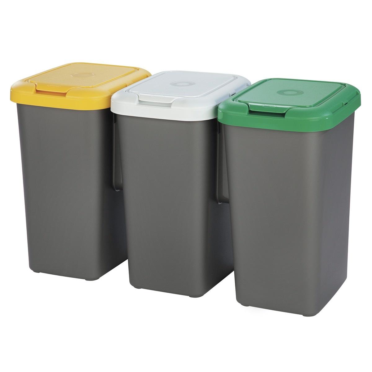 Tontarelli Kôš na triedený odpad TRIO 3 x 25 l, sivá