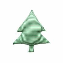 Domarex Vánoční tvarovaný polštářek Smrček zelené proužky, 40 cm