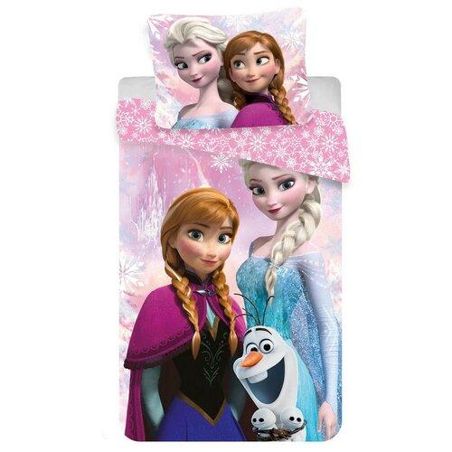 Jerry Fabrics Povlečení Ledové království Frozen pink micro 2016, 70 x 140 cm