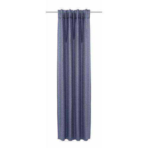 Albani Jolie függöny rejtett akasztópántokkal, kék, 135 x 245 cm