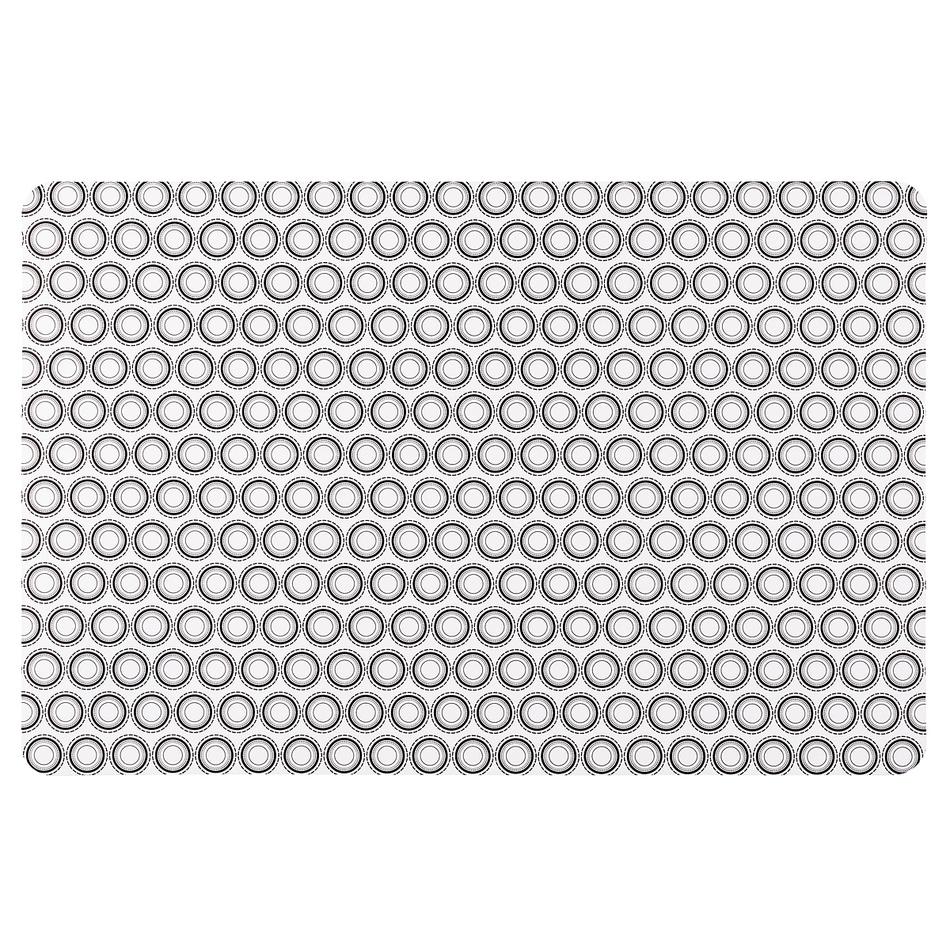 Koopman Prostírání Kruhy bílá, 28 x 43 cm, sada 4 ks