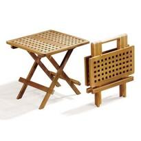 Záhradný skladací stôl Piknik 50 x 50 x 46 cm, teak