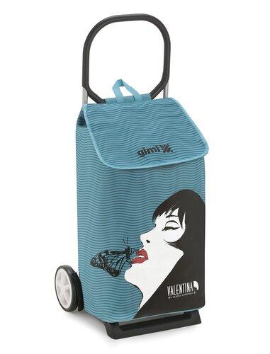 Nákupná taška na kolieskach Valentina Sogno modrá