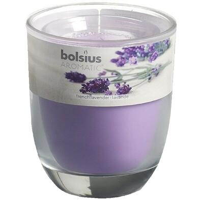Svíčka Aromatic, French lavender, 8 x 7  cm, Bolsius