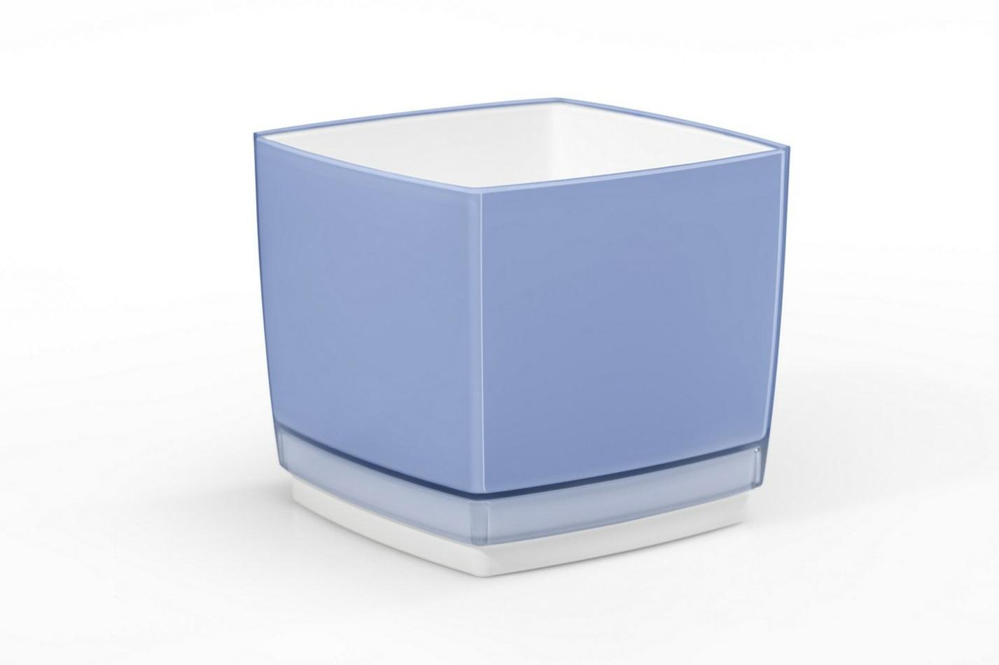 Plastový květináč Cube 170 modrá