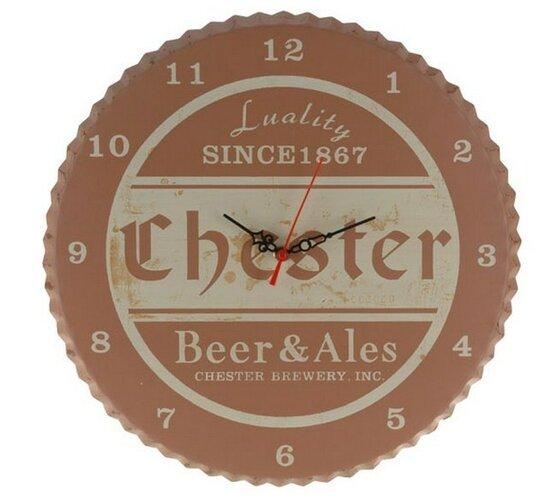 Plastovéhodiny Chester, hnedé