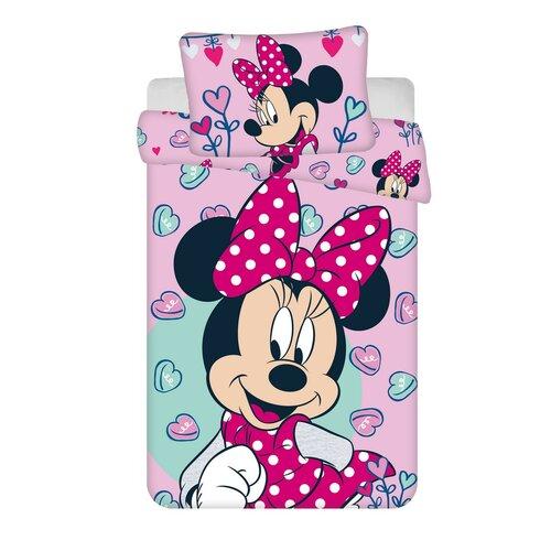 Dětské bavlněné povlečení do postýlky Minnie pink 02 baby, 100 x 135 cm, 40 x 60 cm