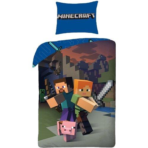 Halantex Dětské bavlněné povlečení Minecraft, 140 x 200, 70 x 90 cm
