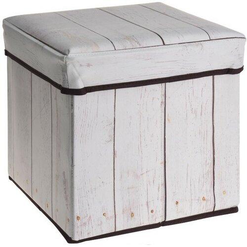 Úložný sedací box Wooden Maple, 30 x 30 x 30 cm