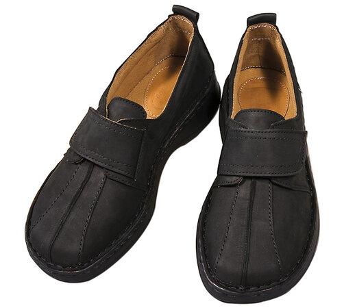 Orto Plus Dámska obuv na suchý zips veľ. 41 čierna