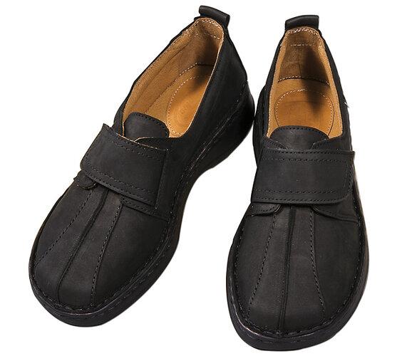 Dámská kožená obuv, černá, 36