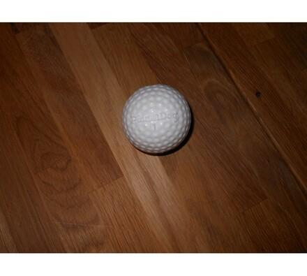 Žvýkací míček s otvorem pro pamlsky, golf, bílá