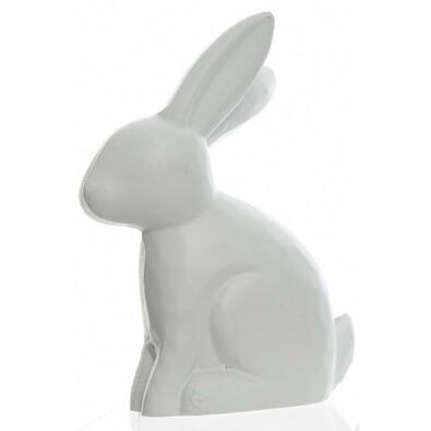 Dekorační Zajíček bílá, 10 cm