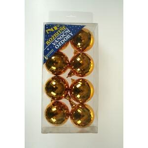 Vánoční koule 8 ks, zlatá