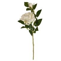Umělá květina Čajová růže bílá, 47 cm