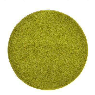 Kusový koberec Elite Shaggy zelená, průměr 120 cm