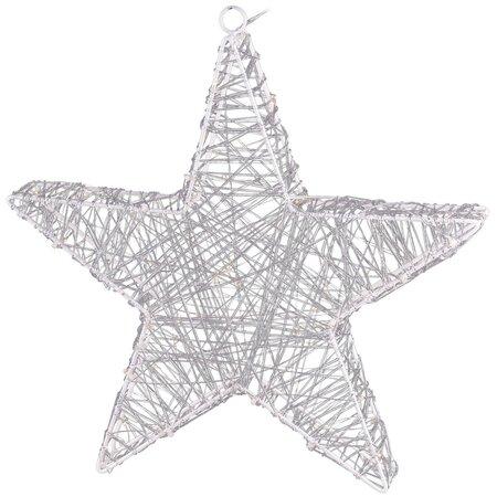 Rapallo karácsonyi csillag, ezüst, 50 LED-es