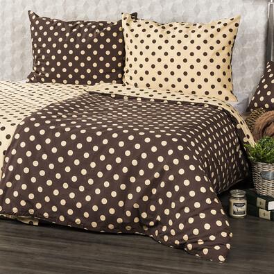 Lenjerie pat 1 pers.4Home Buline Ciocolată, 140 x 220 cm, 70 x 90 cm