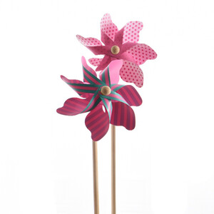 Větrník růžová, pr. 17 cm