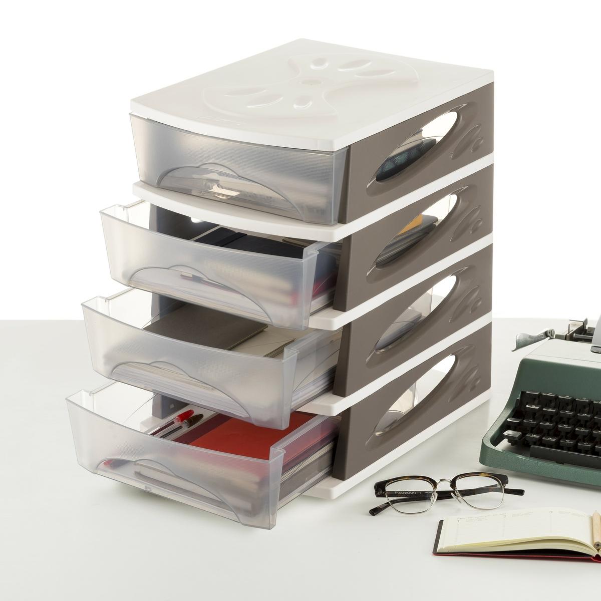 Levně Pořadač MEDYA BOX, 26,5 x 35 x 39, taupe