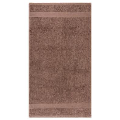 Ručník Olivia hnědá, 50 x 90 cm