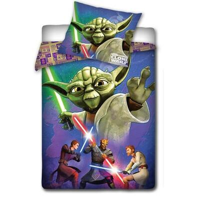 Dětské bavlnené povlečení Star Wars - Mistr Yoda, 140 x 200 cm, 70 x 80 cm