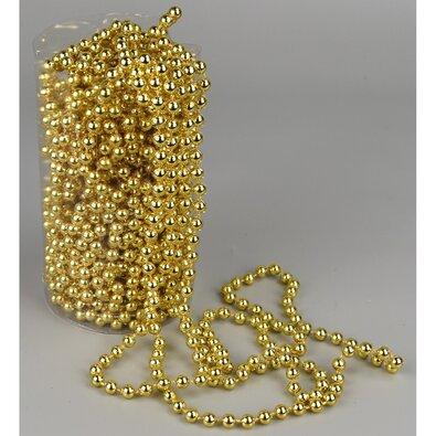 Bożonarodzeniowa girlanda z perełek, złoty, 15 m