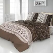 Kvalitex Ivore szatén ágynemű, barna, 140 x 200 cm, 70 x 90 cm