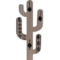 Dřevěný háček Cactus Shape, černá