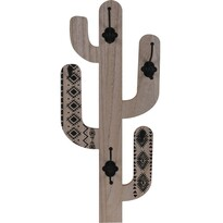 Drevený háčik Cactus Shape, čierna