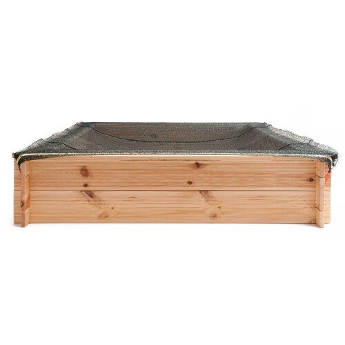Woody Pískoviště dřevěné se sítí, 120 x 120 cm