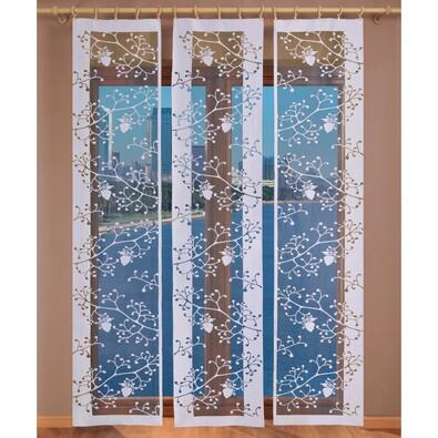 Japonská stěna Marieta střed bílá, 50 x 240 cm