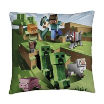 Minecraft kétoldalas párna, 40 x 40 cm