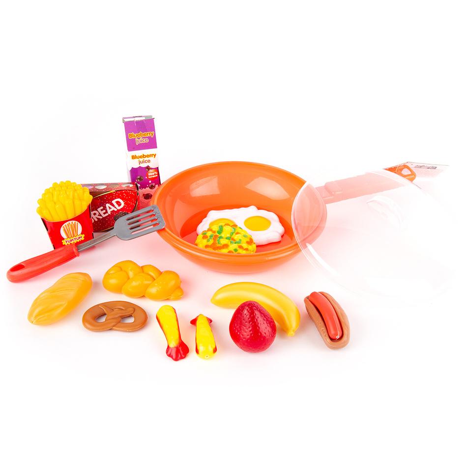 Dětský hrací set Pánvička oranžová, 30 cm