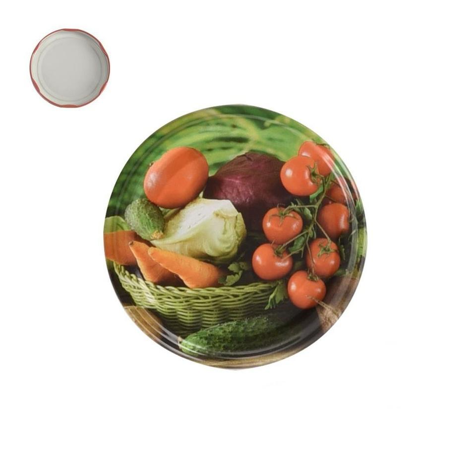 Orion 10-dielná sada viečok so závitom Zelenina,  7 cm