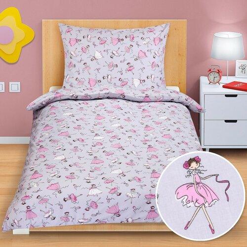 Junior gyermek pamut ágynemű, Balerina, 140 x 200 cm, 70 x 90 cm